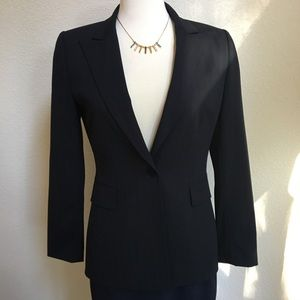 Tahari by ASL black pinstripe blazer career office